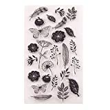 GIMITSUI Store Silicone Clear Stamp (Leaf & Flower)